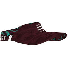 Compressport Ultralight Daszek Camo Neon 2020, camo burgundy